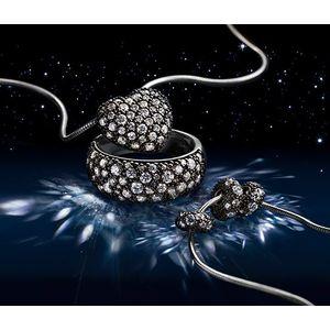 Tchibo ezüst gyűrű, cirkónia, pavé foglalat kép