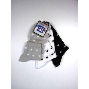 Freetime szíves női pamut zokni - 3 pár kép