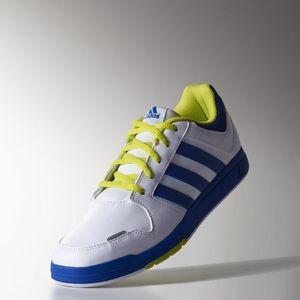 Adidas B40115 kék-neon-fehér trainer sportcipő kép