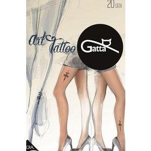 Női mintás harisnya ART TATTOO 01 20DEN Gatta kép