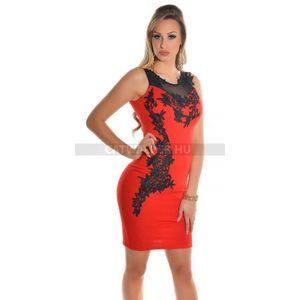 Alkalmi ruha hímzett - piros - catwalker kép
