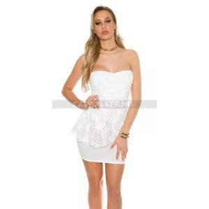 Alkalmi ruha csipkés felső részén ráncolt - fehér (45 db) - Divatod.hu 8c737faa05