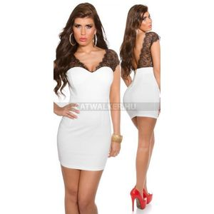 Alkalmi ruha K18533 - fehér - catwalker kép
