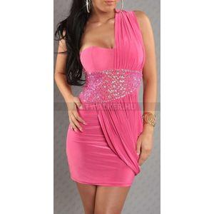 Alkalmi ruha F1419, flitteres, gyöngyös - pink - catwalker kép