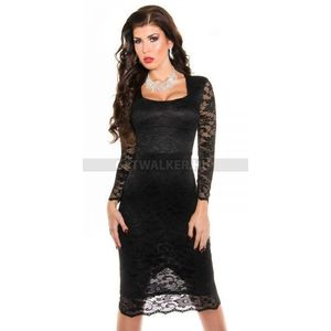 Alkalmi ruha csodás csipke - fekete - catwalker kép