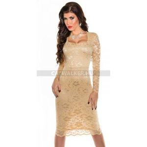 Alkalmi ruha csodás csipke - pezsgő - catwalker kép