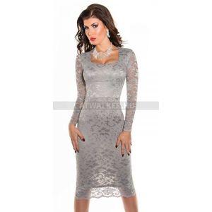 Alkalmi ruha csodás csipke - szürke - catwalker kép