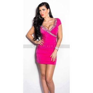 Flitteres, rövid alkalmi ruha - pink - catwalker kép