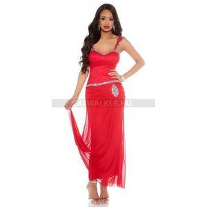 Estélyi ruha strasszos - piros - catwalker kép