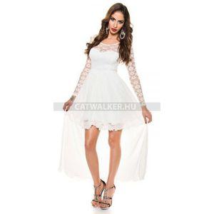 Estélyi ruha csipkés K9129 - fehér - catwalker kép