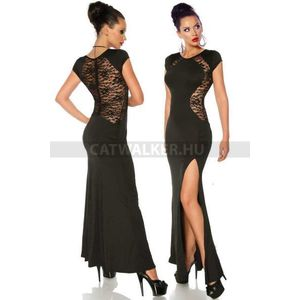 Estélyi ruha, csipke hátú - fekete - catwalker kép