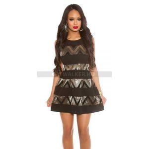 Party ruha flitteres - arany-fekete - catwalker kép