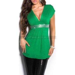 Női felső strasszos - zöld - catwalker kép