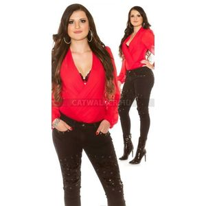 Női farmernadrág szegecsekkel és flitterekkel díszített - fekete - catwalker a37655337e
