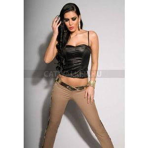 Női nadrág flitteres - bézs-arany - catwalker kép