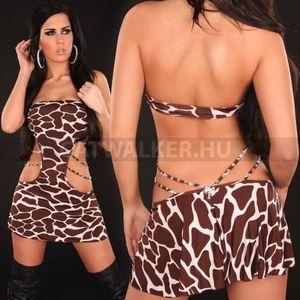 Miniruha, nyitott, szexi - zsiráf - catwalker kép