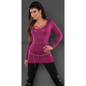 Női kötött pulóver szegecses - barna (49 db) - Divatod.hu 2dd5505625