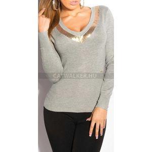 Női kötött pulóver flitteres 51d446c522