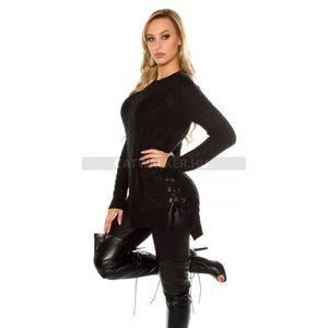 Kötött ruha alján fűzős - fekete (35 db) - Divatod.hu 1426323cfc