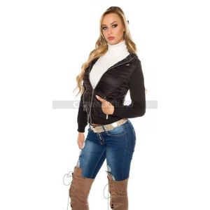 női átmeneti kabát steppelt kép