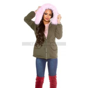 Női kabát divatos prémes - keki-pink (33 db) - Divatod.hu ff887a3081