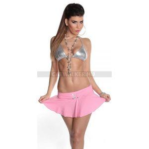 Szexi ruha, gogo, miniszoknya strasszos övvel - rózsaszín - catwalker kép