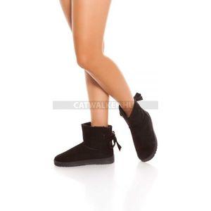 Női boka csizma - fekete - catwalker kép