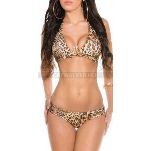 Bikini nyakba kötős, kígyó csatos - leo - catwalker kép