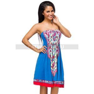 Nyári ruha 14039 - kék-mintás - catwalker kép