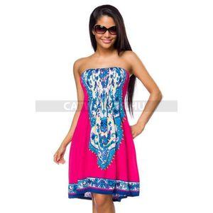 Nyári ruha 14039 - pink-mintás - catwalker kép