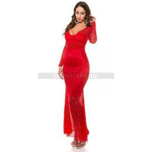 Estélyi ruha csupa csipke - piros - catwalker kép