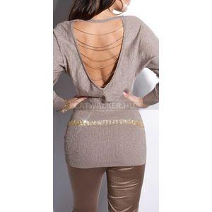 Kötött ruha hátán nyitott, láncos - vakond - catwalker kép