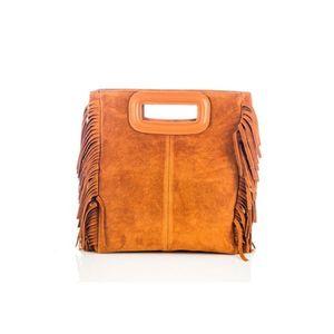 Michal Negrin Konyak barna velúr kézi táska rojtokkal kép