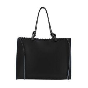 Michal Negrin Szögletes fazonú fekete 2: 1 táska rojtokkal kép