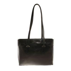 Michal Negrin Fekvő fazonú fekete bőr táska kép