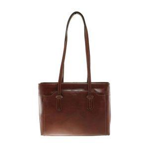 Michal Negrin Fekvő fazonú barna bőr táska kép