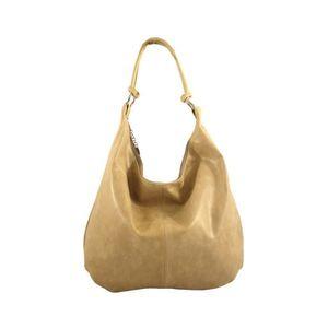 Michal Negrin Egyvállas szütyő fazonú bézs bőr táska kép