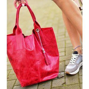 Michal Negrin Fényes piros shopper kép