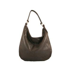Michal Negrin Egyvállas szütyő fazonú sötét barna bőr táska kép