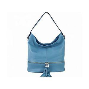 Michal Negrin Egyvállas világos kék olasz bőr táska kép