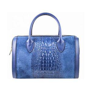 Michal Negrin Kék krokkó mintás kézi táska kép