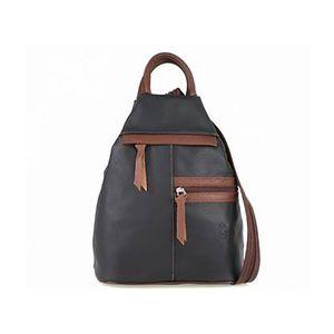 Michal Negrin Fekete/barna több zsebes háti táska kép