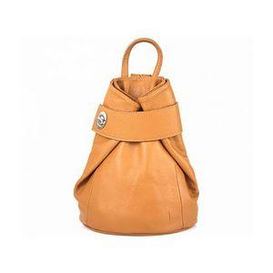 Michal Negrin Konyak barna olasz bőr háti táska kép