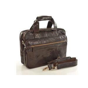 Michal Negrin Férfi luxus sötét barna laptop táska kép
