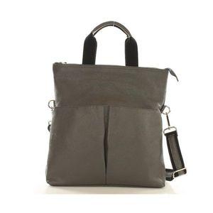 Michal Negrin Modern olasz bőr szürke kézi táska kép