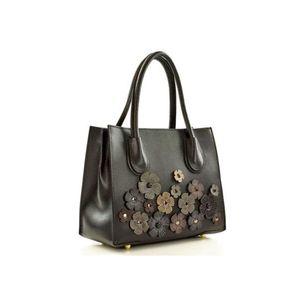 Michal Negrin Fekete kézi táska virágokkal díszítve 3ff656e0ef