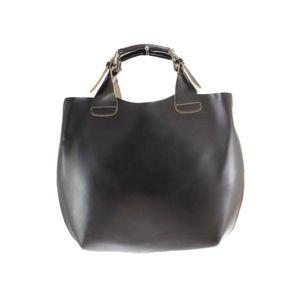 Michal Negrin 2: 1 csatos fülű sötét barna kézi táska kép