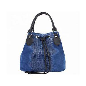 Michal Negrin Király kék kézi táska krokodil mintával kép