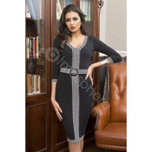 Kockás fekete-fehér ruha kép