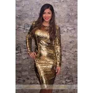 arany színű party ruha kép